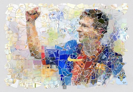 Эскиз ля мозаики можно создать из фотографии