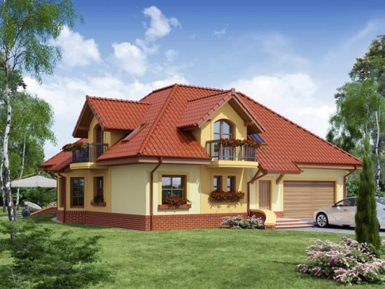 Оборудованная мансарда позволяет обустроить еще несколько жилых комнат
