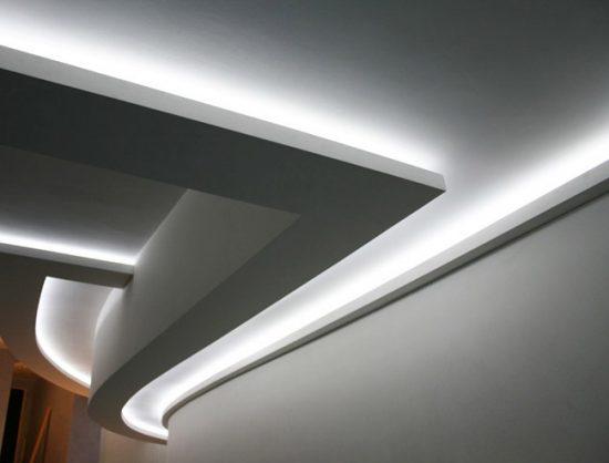 Дизайнерский двухуровневый потолок
