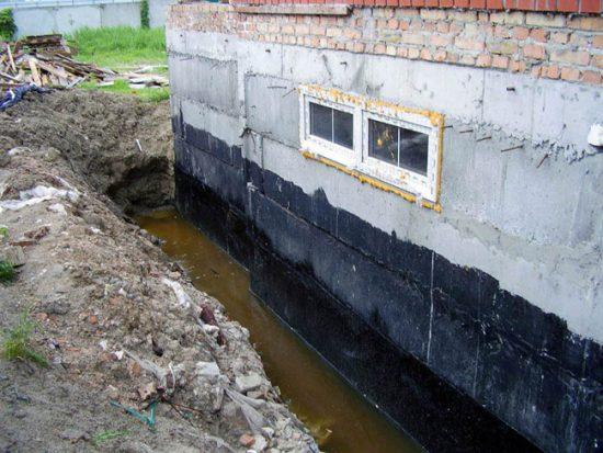 Подтопление фундамента дома и подвала