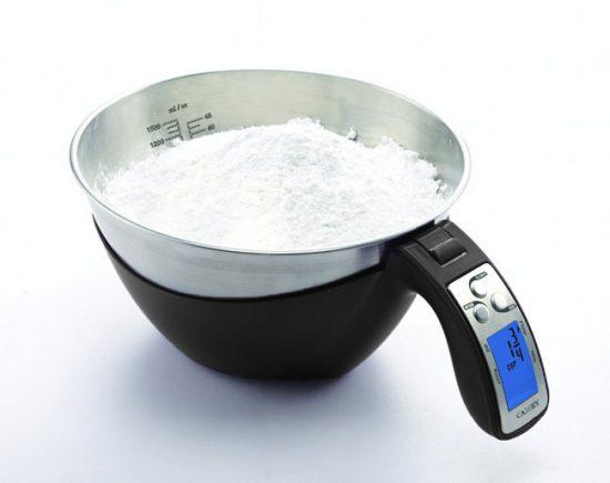 Кухонные весы со съемной чашей