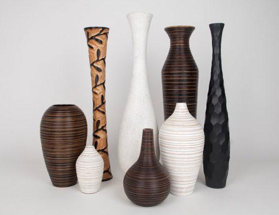Напольные вазы могут изготавливаться из различных материалов