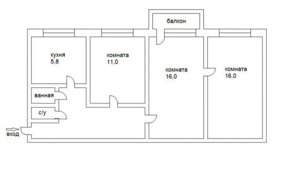 Зачастую в панельных домах делают перепланировку. чтобы расширить санузел