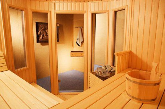 Сборная деревянная сауна для дома