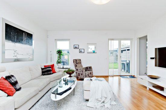 Мебель в скандинавском интерьере должно быть мало - только самое необходимое