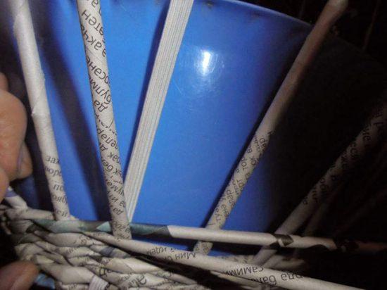 Плетение тела вазы