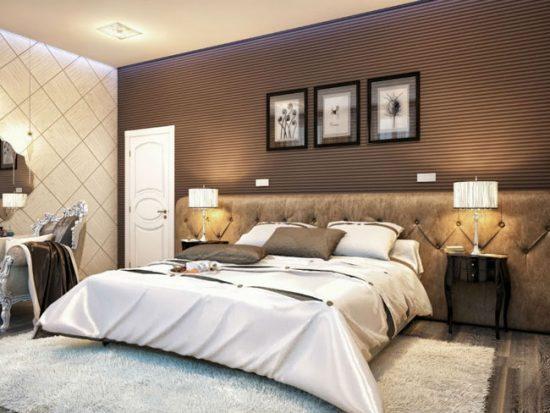 С помощью удачных обоев можно корректировать восприятие пространства спальни