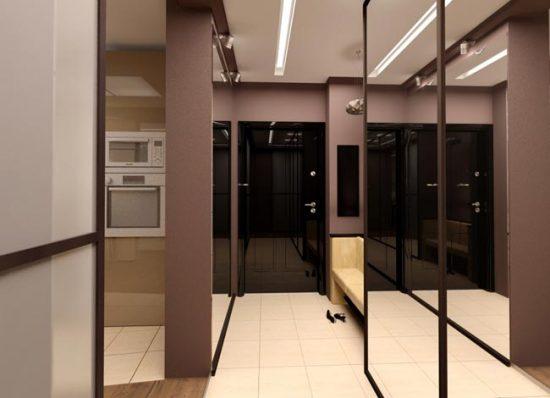 Большое зеркало позволит зрительно увеличить пространство