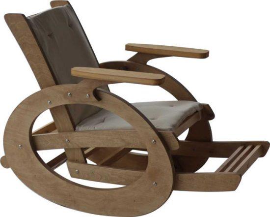 Кресла-качалки могут иметь различный конструкции