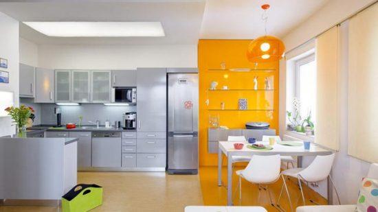 Зонирование пространства с помощью цвета