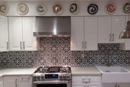 Кухонный фартук из марокканской мозаики