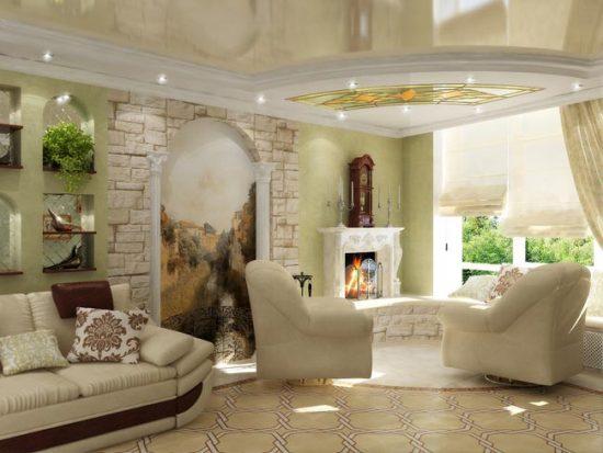 Мягкая мебель - главный элемент гостиной
