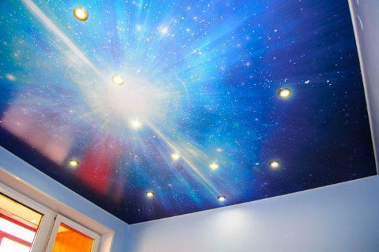 Натяжной потолок с 3Д рисунком
