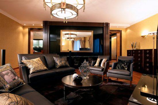 Темная мебель из дерева - черта стиля арт-деко