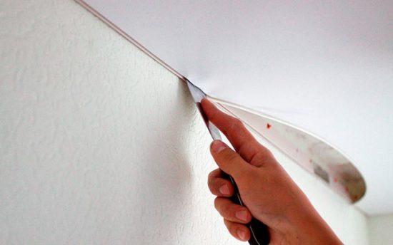 Приступайте к работе над потолком после того, как стены полностью готовы
