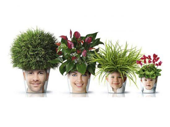 Декорирование цветочных горшков с помощью фото