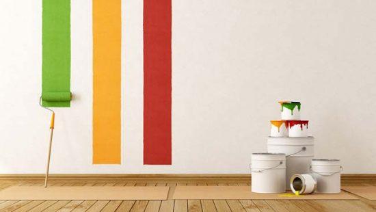 Не используйте слишком яркие цвета краски для стен