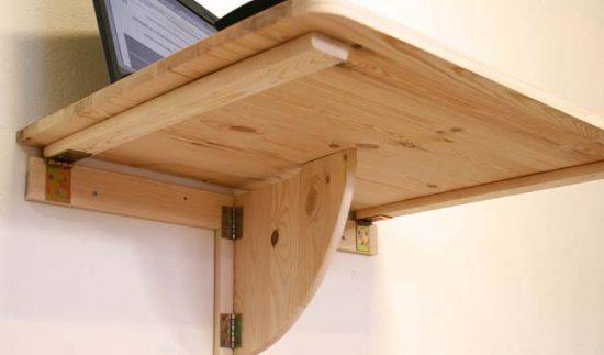 Откидной стол - функциональная мебель для маленького помещения