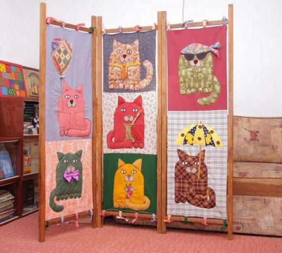 Оригинальная ширма для детской комнаты