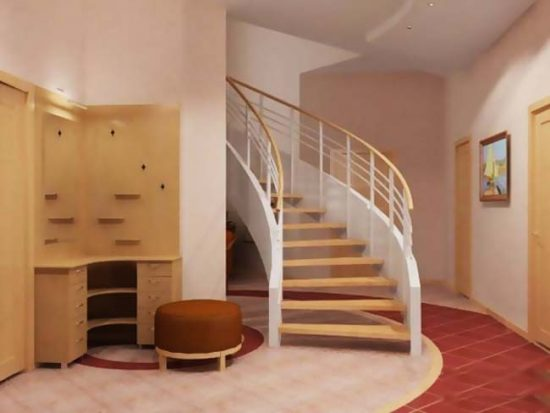 Лестница должна соответствовать общей стилистике помещения