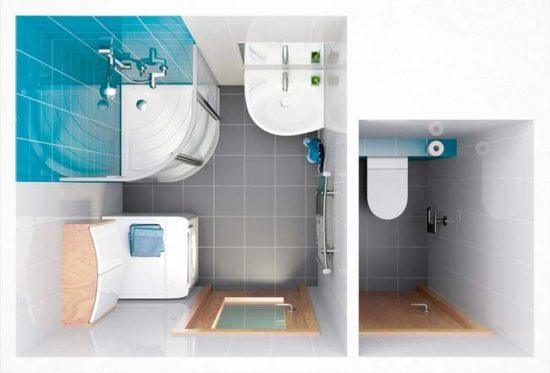 Планировка квадратной ванной
