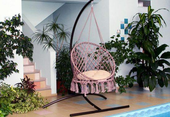 Подвесное кресло в технике макраме