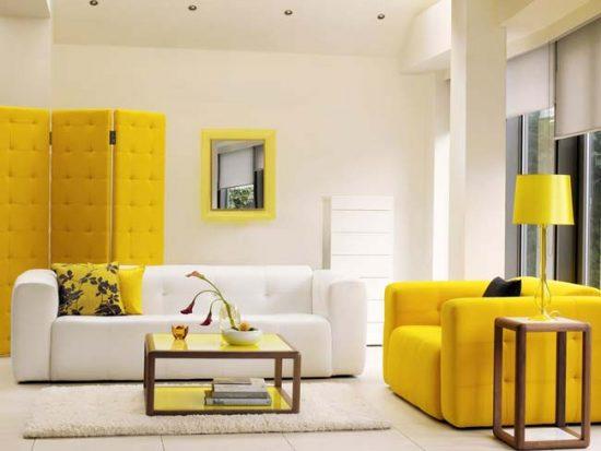 Сочетание желтого и белого