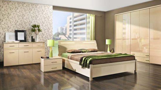 Спокойные тона в дизайне спальни