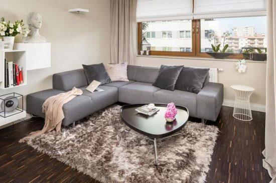 Расположение дивана в углу