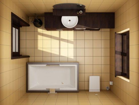 В японской ванной не должно быть бесполезных вещей