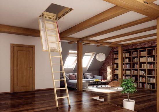 Чердачная лестница из приставной