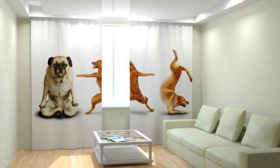 Фотошторы можно размещать в любой из комнат