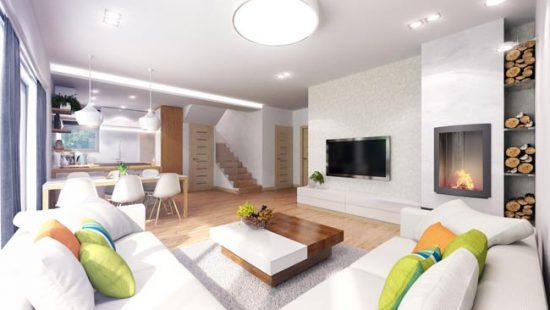 Совмещение кухни и гостиной в частном доме