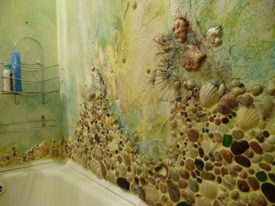 Морская тематика в ванной