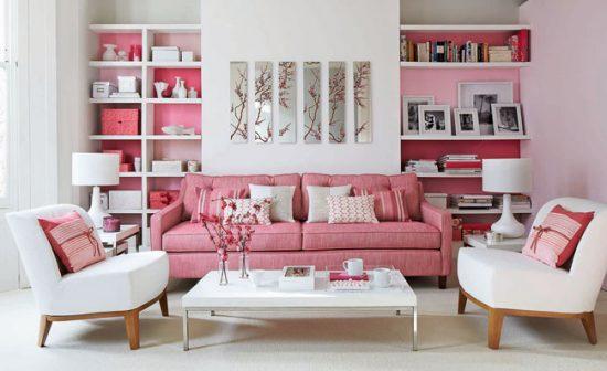 Сочетание розового и белого