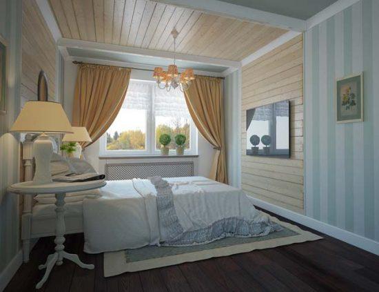 Несколько источников освещения в спальне в стиле прованс