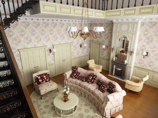 Для стиля прованс подходит старинная или искусственно состаренная мебель