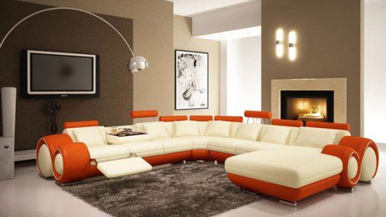 Угловой диван для большой гостиной