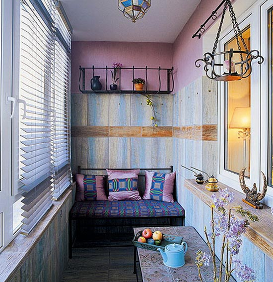 Гостиная на балконе