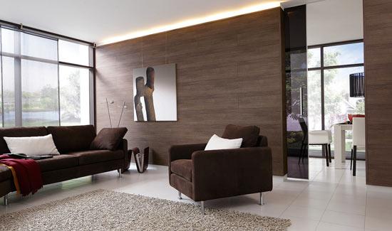 Дизайн стены с ламинатом
