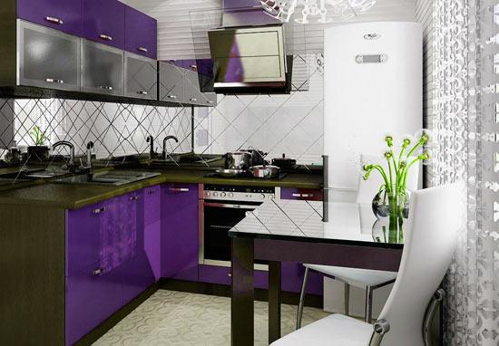 Темный цвет на маленькой кухне