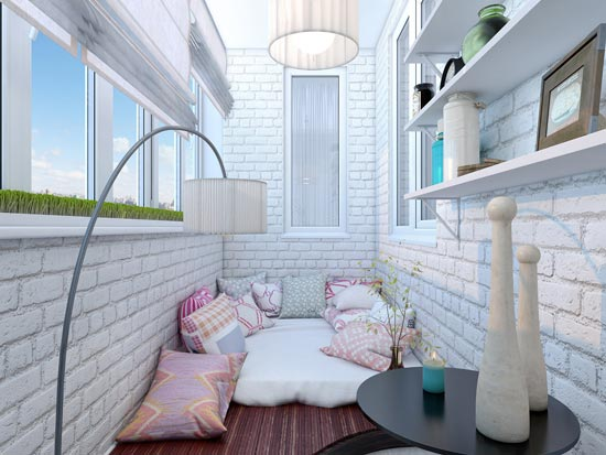 Интерьер на балконе