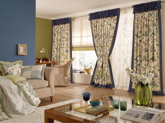 Занавески в гостиную в стиле прованс