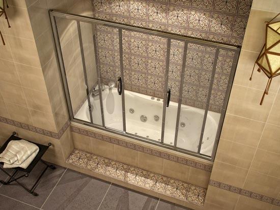 Конструкция штор для ванной