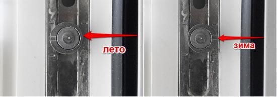 Регулировка ПВХ окна на лето или зиму