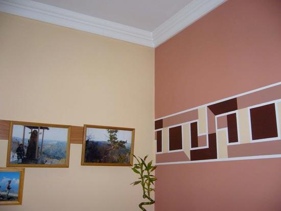 Окраска стен нестандартно