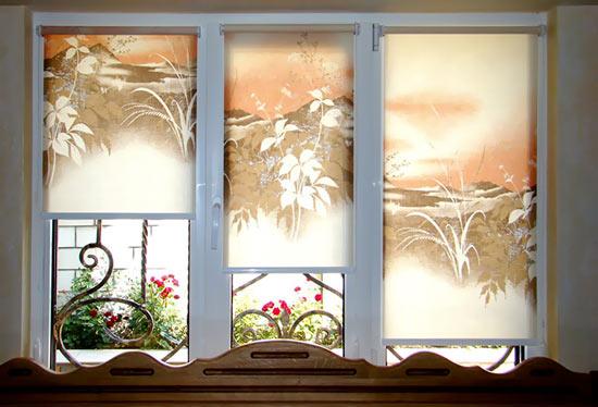 Рулонные шторы дизайн