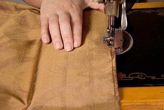 Сшив односторонней ткани