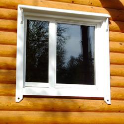 ПВХ окно в деревянном доме
