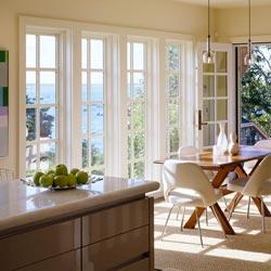 Панорамное французское окно